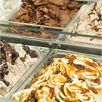 Freshly made daily Gelato